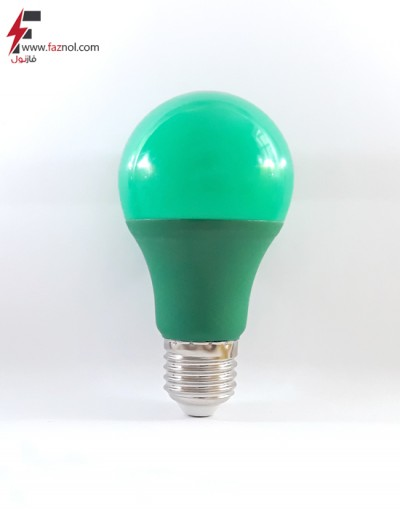 لامپ ال ای دی حبابی سبز 9 وات پایه E27- آلبو