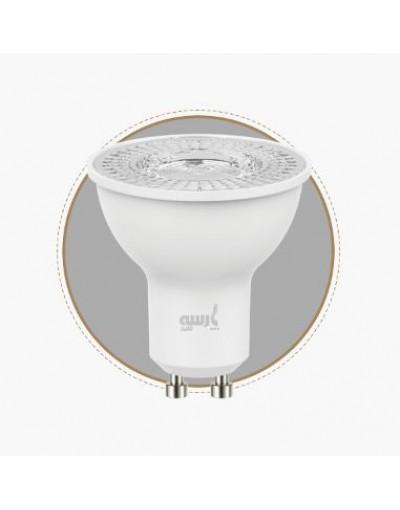 بسته 10 عددی لامپ LED هالوژنی 7 وات پارسه شید به همراه سوکت GU10 و 1 بسته 4 عددی باتری سوپر انرژی وستینگهاوس