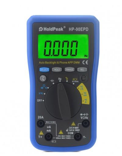 مولتی متر دیجیتال اتصال به موبایل Holdpeak- 90EPD