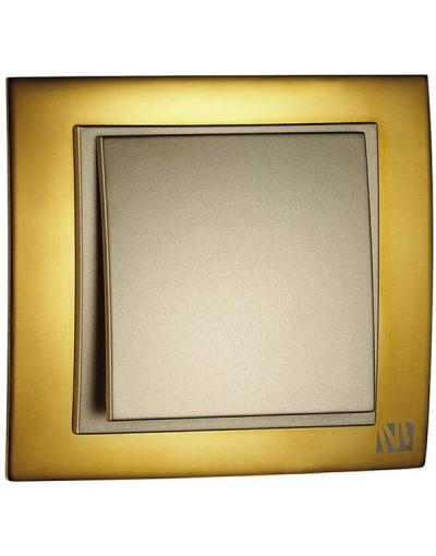 کلید و پریز لاکچری Mono ترکیه مدل کروم طلایی