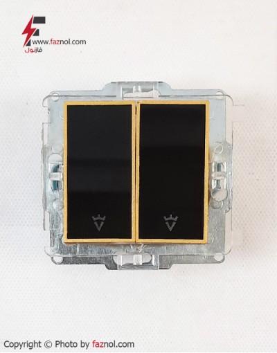 مکانیزم کلید و پریز مدل ویرا امگا (طلا سفید و طلا مشکی) - ویرا الکتریک