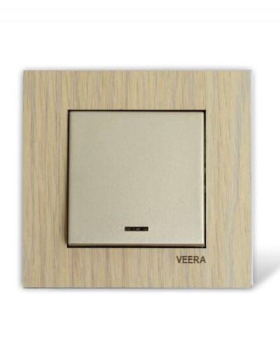 کلید و پریز ویرا الکتریک مدل کریستال چوب افرا