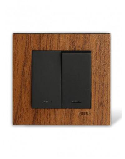 کلید و پریز ویرا الکتریک مدل کریستال چوب گردو
