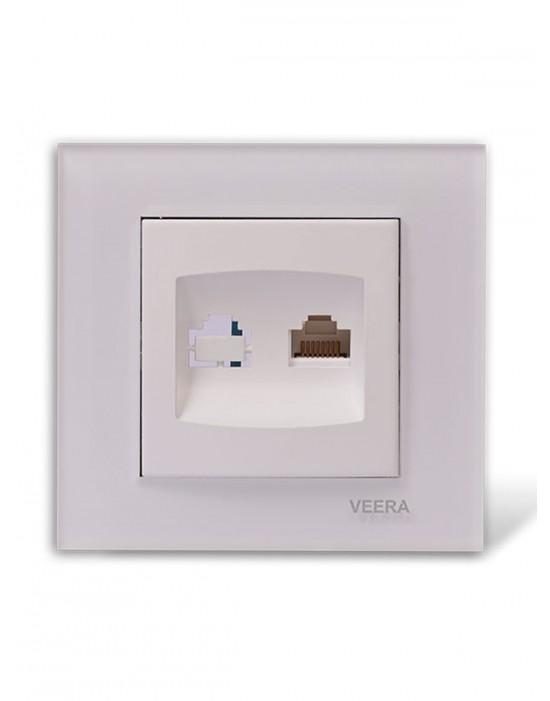 کلید و پریز ویرا الکتریک مدل کریستالی سفید