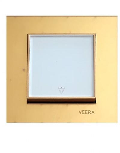کلید و پریز ویرا الکتریک مدل امگا طلایی طلایی سفید ( تمام شیشه )