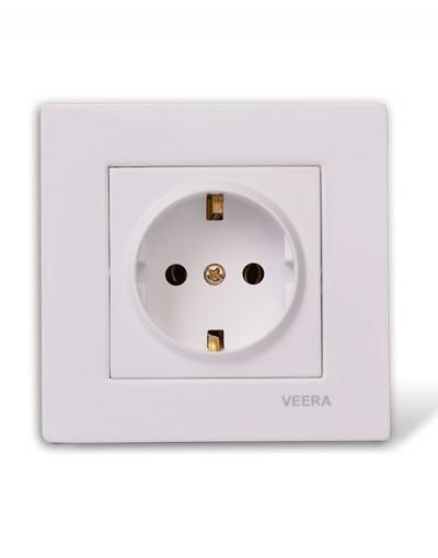 کلید و پریز ویرا الکتریک مدل سفید ساده