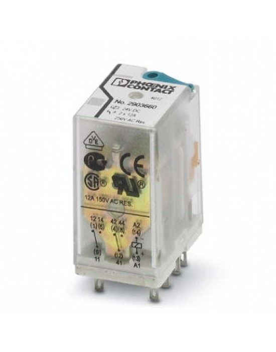 رله 8 پایه 12 آمپر دو کنتاکت ( 2PDT) 120 VAC - فونیکس کنتاکت