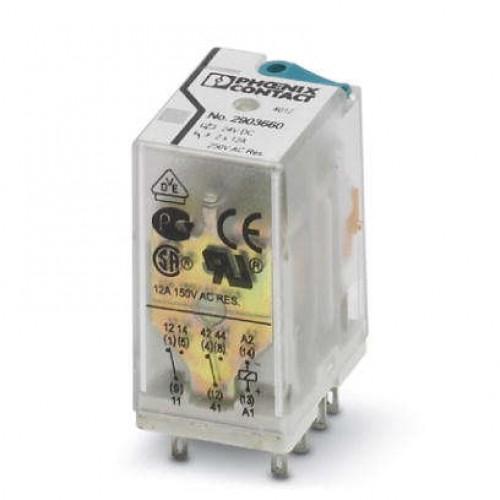 رله 8 پایه 12 آمپر دو کنتاکت ( 2PDT) 230 VAC - فونیکس کنتاکت