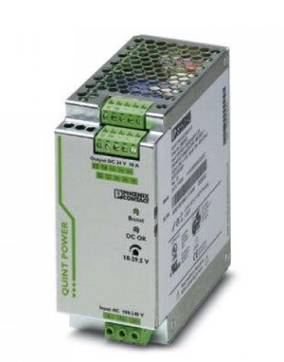 منبع تغذیه سوییچینگ تکفاز - خروجی 24 ولت DC و جریان 10A- مدل QUINT- فونیکس کنتاکت