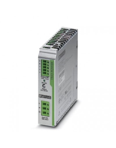 منبع تغذیه سوییچینگ تکفاز - خروجی 24 ولت DC و جریان 2.5A -مدل TRIO- فونیکس کنتاکت