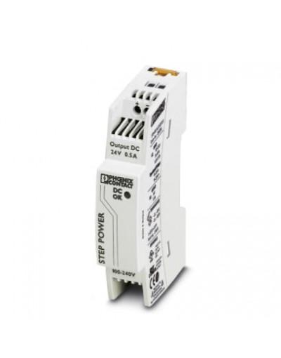 منبع تغذیه سوییچینگ تکفاز - خروجی 24 ولت DC و جریان 0.5A -مدل STEP- فونیکس کنتاکت