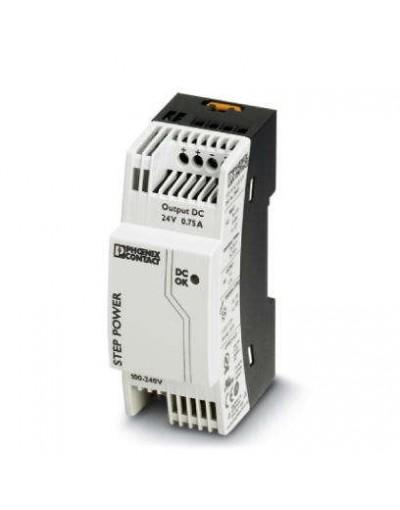 منبع تغذیه سوییچینگ تکفاز - خروجی 24 ولت DC و جریان 0.75A- مدل STEP- فونیکس کنتاکت