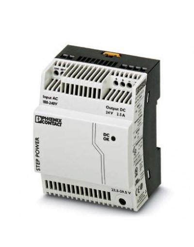 منبع تغذیه سوییچینگ تکفاز - خروجی 24 ولت DC و جریان 2.5A -مدل STEP- فونیکس کنتاکت