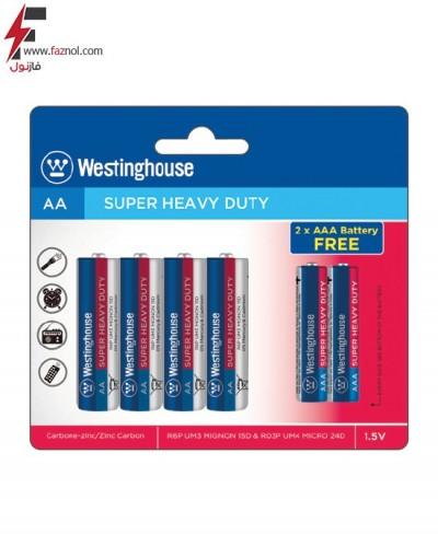 باتری قلمی و نیم قلمی سوپر انرژی وستینگ هاوس 4+2