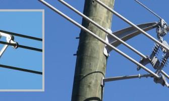 شبکه توزیع برق هوایی با کابل های فاصله دار