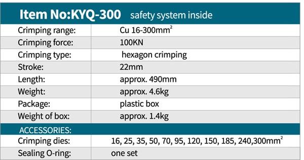 مشخصات فنی پرس کابلشو هیدرولیک Zupper