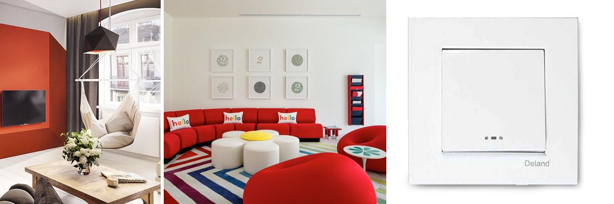 ترکیب سفید و قرمز در دکوراسیون داخلی