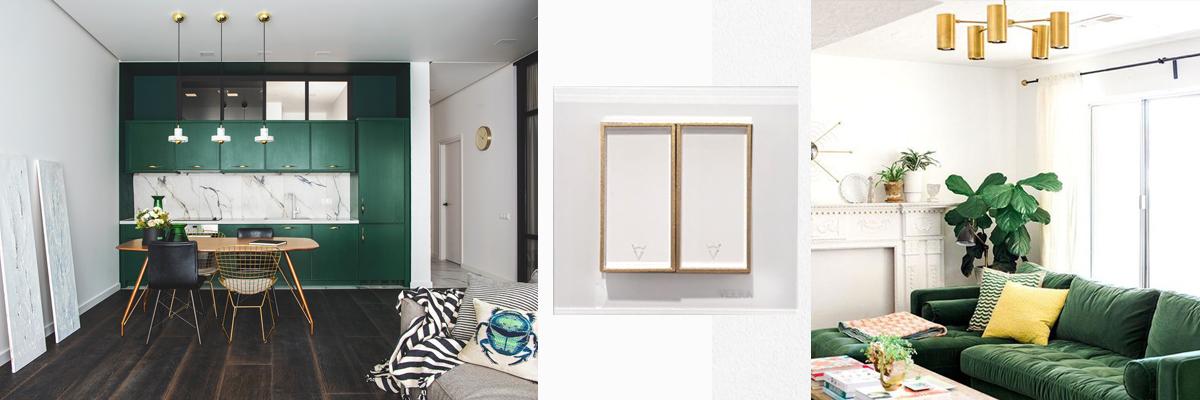 ترکیب سفید با رنگ سبز در دکوراسیون داخلی