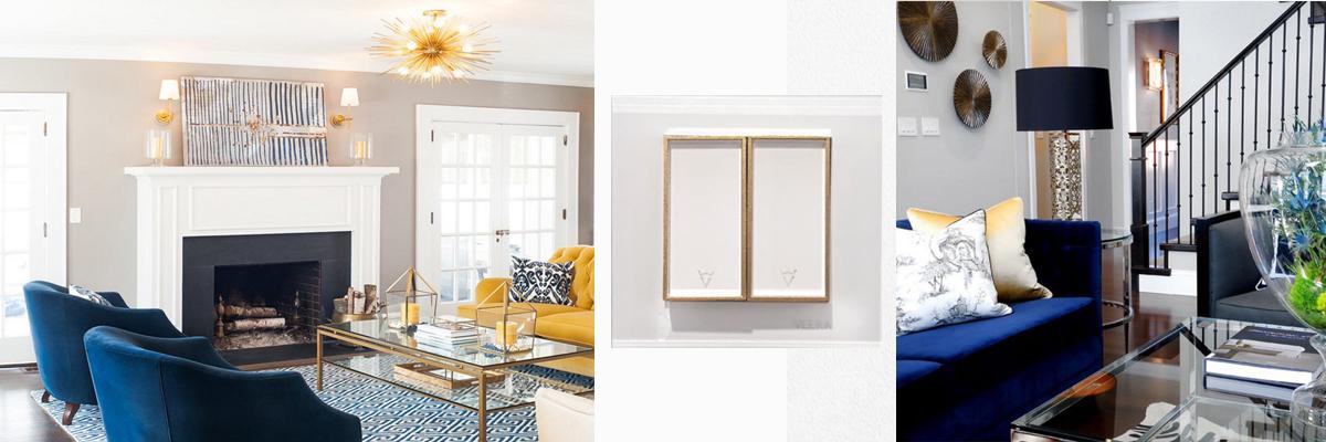 کلید و پریز سفید طلا سفید