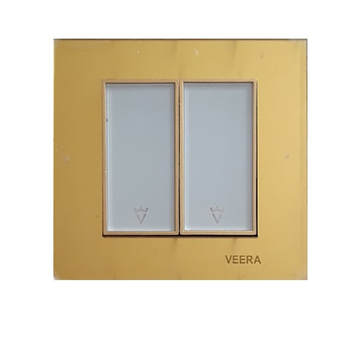 کلید 2 پل طلایی طلایی سفید امگا ویرا الکتریک