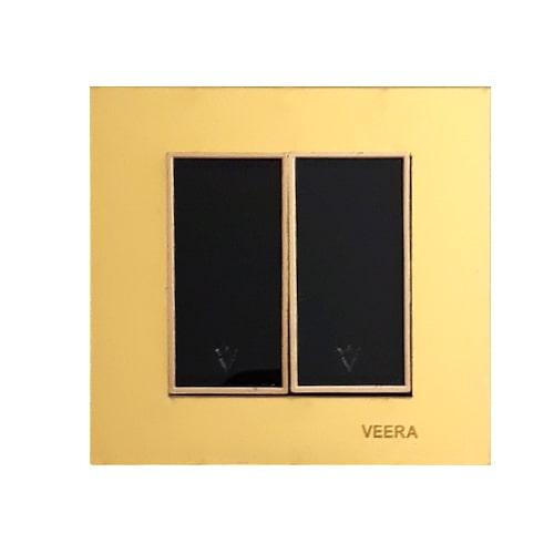 کلید 2 پل طلایی طلایی مشکی امگا ویرا الکتریک